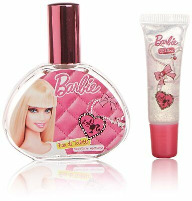 Barbie Gift Set Eau De Toilette Lip Gloss Tutu Headband And Jewel Stickers New