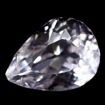 4.05 Ct Aaa! Natural! Pink Kunzite Pear Afghanistan Exceptional