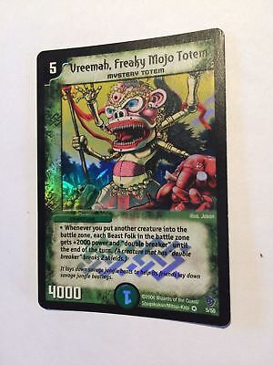* VERY RARE * Vreemah, Freaky Mojo Totem 5/55 Duel Masters DuelMasters Holo Foil