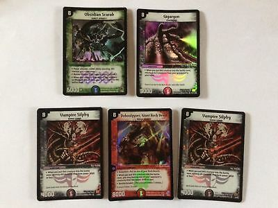 5 x * VERY RARE * Duel Masters DuelMasters Lot Bundle Collection Holo Foil 99p