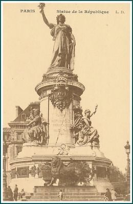 Carte Postale Paris - Statue de la République (#15856)