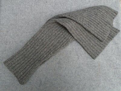 Vtg 1940s WW2 Style Leg Warmers Grey Ribbed Wool Knitted Military Swedish Army