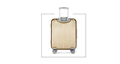"24"" Champagne Gold TSA Coded Lock Universal Wheel ABS+PC Travel Suitcase Luggage"
