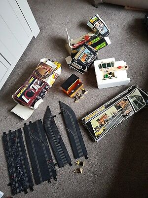 scalextric vintage bundle c190, loop, pitstop and crew and auto start