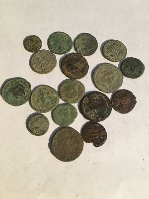 17 X Ancient Or Roman Coins Good Grade Uncleared