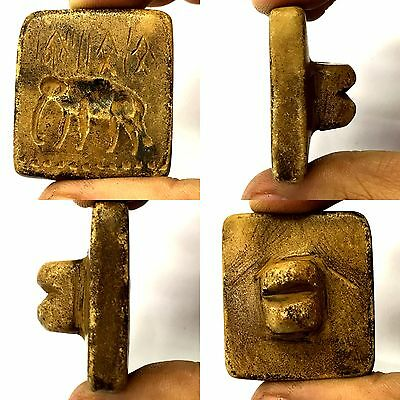 Ancient Carved intaglio Roman agate Wonderful Gold Gilding pendant #SH463