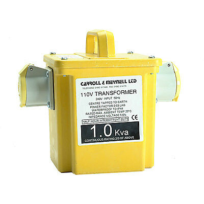 Carroll & Meynell 2.25Kva 240v to 110v Step Down Transformer with 2 16A Sockets