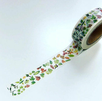 Autumn leaves washi tape, Fall washi, decorative tape * Free P&P
