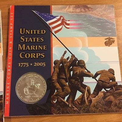2005 United States Marine Corps Coin and Stamp Set