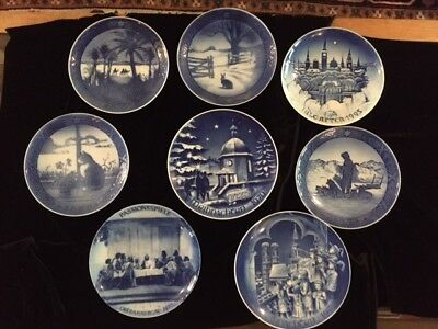 Set of 8 Christmas Plates  Royal Copenhagen, Bareuther, B&G,
