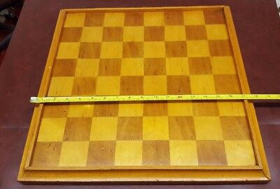 "Large Veneered Chess Board with 2"" squares and felt back"