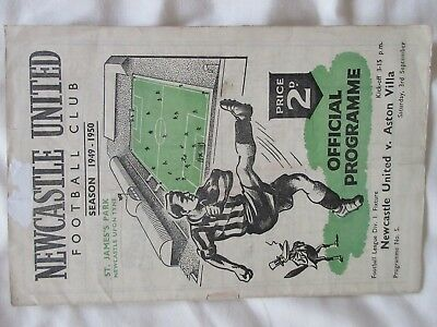 Newcastle United v Aston Villa - 3 September 1949