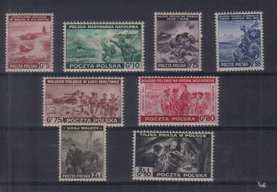 Polish Government in Exile 1943 set very lightly mounted mint