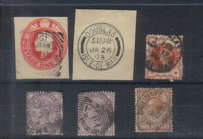 Isle of Man Early used stamps