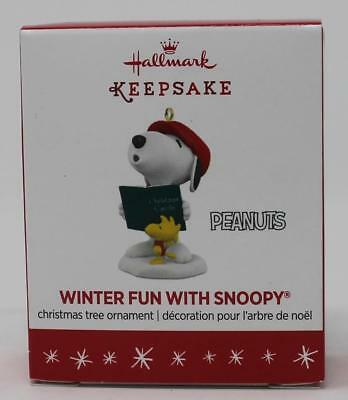 2016 Hallmark Keepsake Miniature Ornament Winter Fun with Snoopy 19th in Series