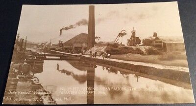 Vintage Falkirk Postcard Redding No.23 Pit Mine Disaster Sept 1923 Unused