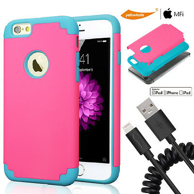 Official Lightning Cable Full-Body Shockproof Protective Shell For iPhone 6 Plus