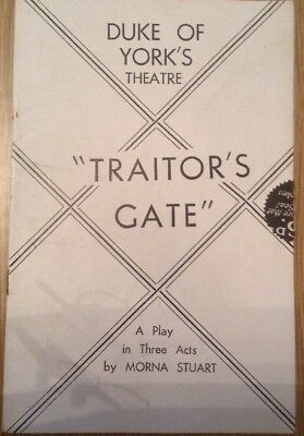 Duke Of York Theatre 'Traitors gate' Programme 1930