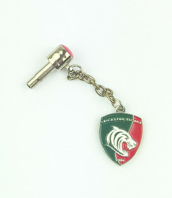 Official LEICESTER TIGERS Mobile Phone Charm Rugby Union Headphone Jack Samsung