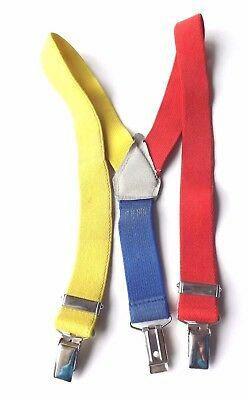 Boys' Children's Clip On Braces Yellow, Red, Blue Elasticated 6-12 M FREE P&P