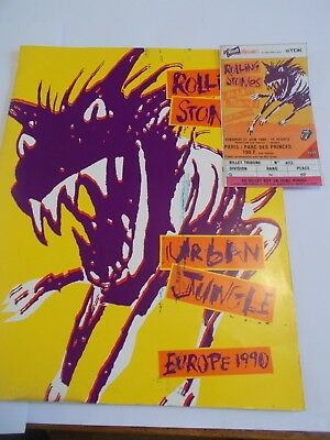 Rolling Stones 1990 Concert Programme Ticket (French)