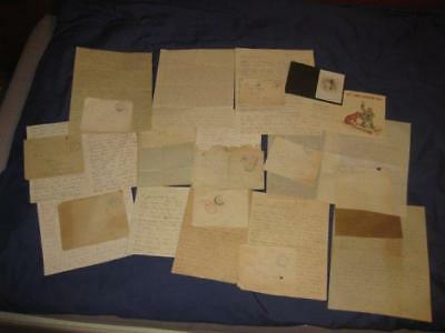 WW1 - 13 LETTERS Sent home from Western Front. 1915 / 1918 Machine Gun Sec: HAC