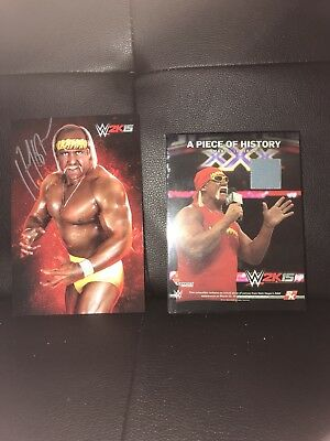 WWE 2K 15 Hulk Hogan Signed Picture and Ring Canvas