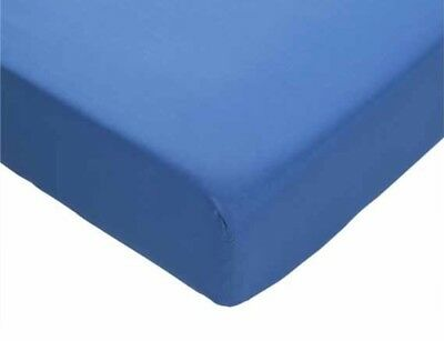 Sleep & Dream Luxury Fitted Super King Blue Sheet 180 Thread Count