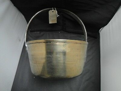 Heavy Brass Jam Preserve Pan Couldron Solid Steel Handle good quality