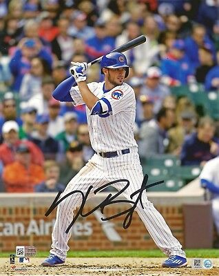 KRIS BRYANT Signed 8x10 PHOTO w/ Fanatics COA + MLB Holo