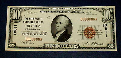 LOW SERIAL #6 GEM BU 1929 DRY RUN Pa. $10 Dollar NATIONAL CURRENCY Note 10811