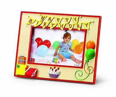 "Happy Birthday 4"" x 6"" Photo Frame by Russ Berrie"