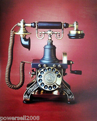 European Style Simple Antique Home Decor Standing Vintage Corded Telephone B-5