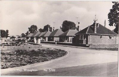Rp  Kerr's Way Wroughton Near Swindon Wiltshire Real Photo C 1955