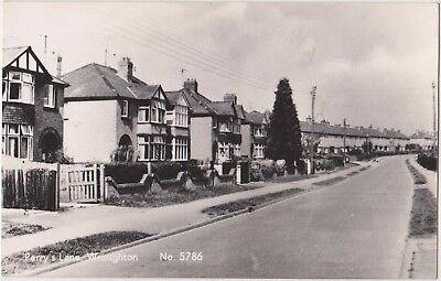 Rp  Perry's Lane, Wroughton Near Swindon Wiltshire Real Photo C 1955