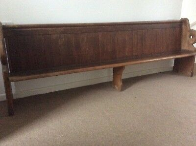 ~~~Old Pine Vintage Antique Church Pew - circa 1900-9'long~~~