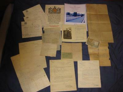 WW1 EPHEMERA Relating to KIA  RFA. inc Scroll/medal Entitalments & Death Letters