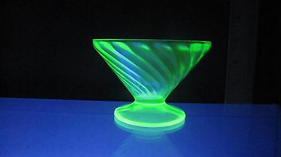 Green Depression Glass Sherbert by FEDERAL GLASS in Diana Pattern