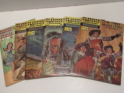 Lot of 6 Classics Illustrated Comics