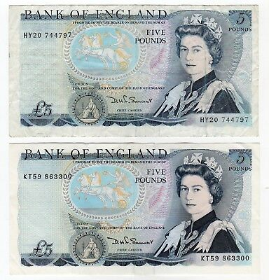 UK 2 Five Pound notes used (34)