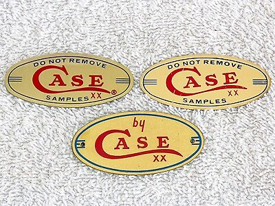 Case XX Oval Brass Plates for Display Cases 2 Do Not Remove Samples * 1 by Case