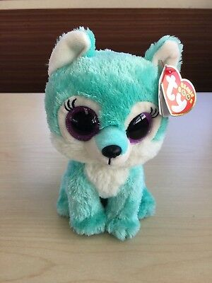 """Ty Beanie Boo JADE the Wolf 6"""" Great Wolf Lodge Exclusive MWMTS"""