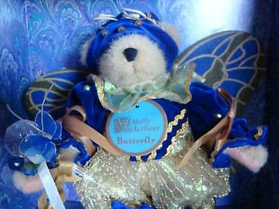 MUFFY VANDERBEAR BUTTERFLY New in Box Limited Edition 4882/10000