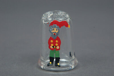 Handpainted Gnome On Glass Thimble B/18