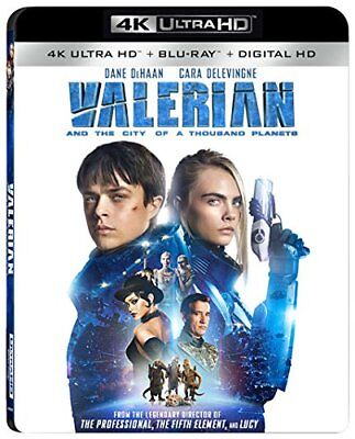 VALERIAN & THE CITY OF THOUSAND (4K ULTRA HD) - Blu Ray -  Region free