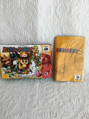 Mario Party 2 (Nintendo 64 n64, 2000) Box And Inserts Only