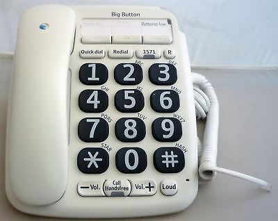 BT Big Button 200 Corded Home Phone Telephone with Phonebook & Speakerphone