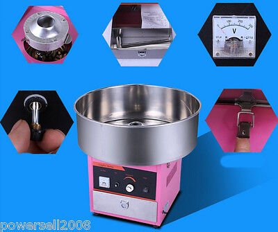 1200W Electric Commercial Cotton Candy Maker Fairy Floss Machine Stainless Steel