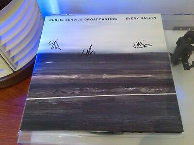 Public Service Broadcasting Every Valley Ltd Ed Clear Vinyl Autographed/signed