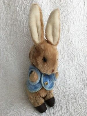 "Vintage Peter Rabbit Wind Up Musical Plush Eden Toys 12"" Tall WORKS!"